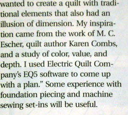 caption, April 2008, Quilters Newsletter