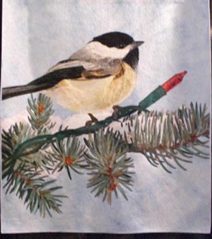 Christmas Chickadee by David Taylor