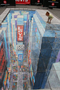 Julian Beever - Time Square