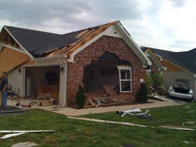 Tornado damage, Tennessee