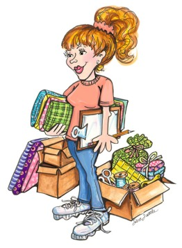 there-i-am-with-my-project-list-and-sewing-bits-9mrvf1-clipart